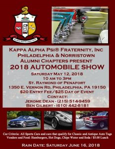 Flyer May 5, 2018 Automobile Show