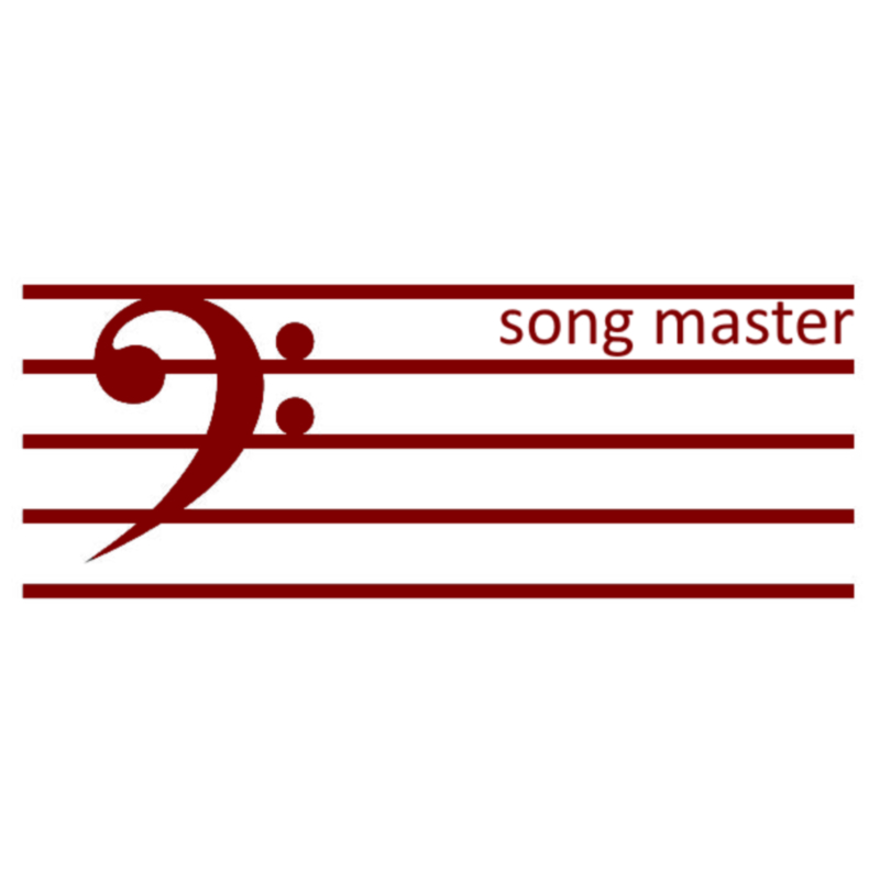 Graphic of a Bass Clef with the words Song Master on the Scale